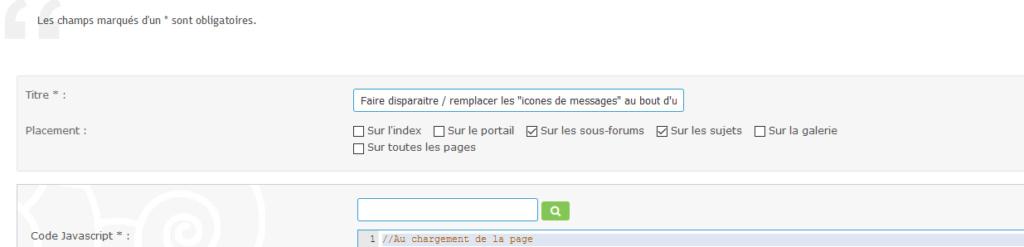 """[PunBB] Faire disparaitre / remplacer les """"icones de messages"""" automatiquement Script11"""