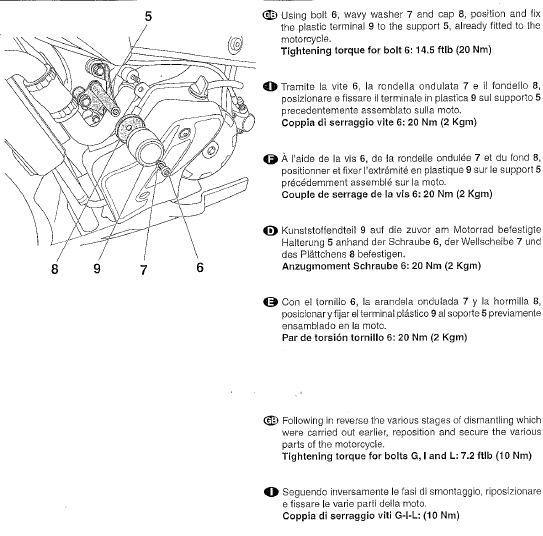 Istruzioni montaggio tamponi paracarena Tuono new 810