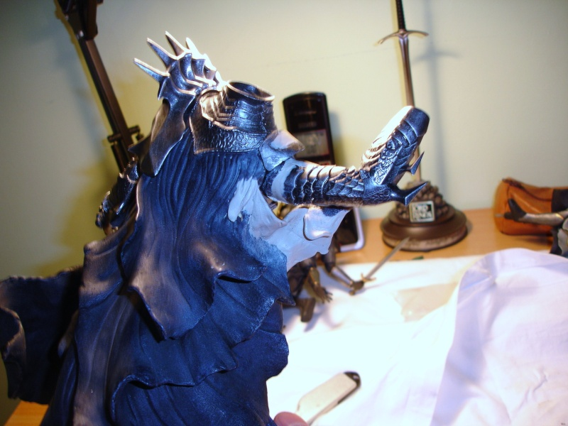 CUSTOM d'un diorama , Sauron VS the numenorean army  de chez sideshow. Dsc01126