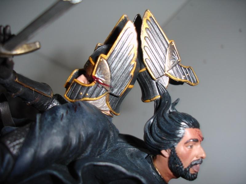 CUSTOM d'un diorama , Sauron VS the numenorean army  de chez sideshow. Dsc01233
