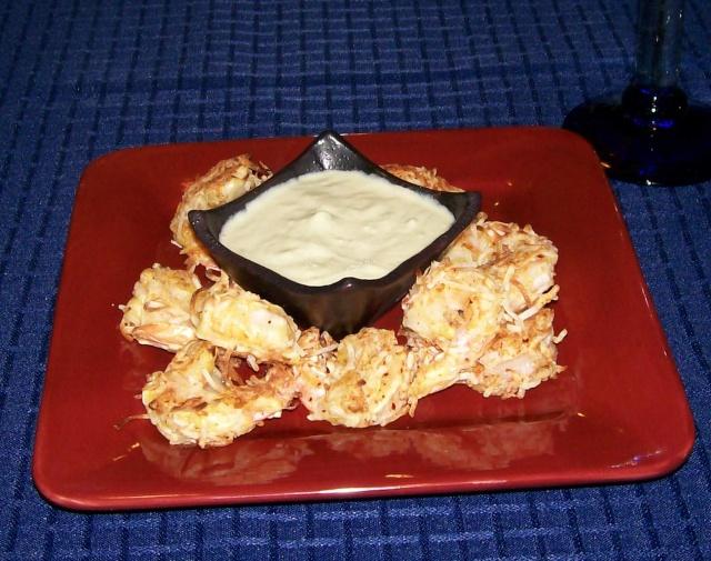 Crevettes croustillantes à la noix de coco  Cre_210