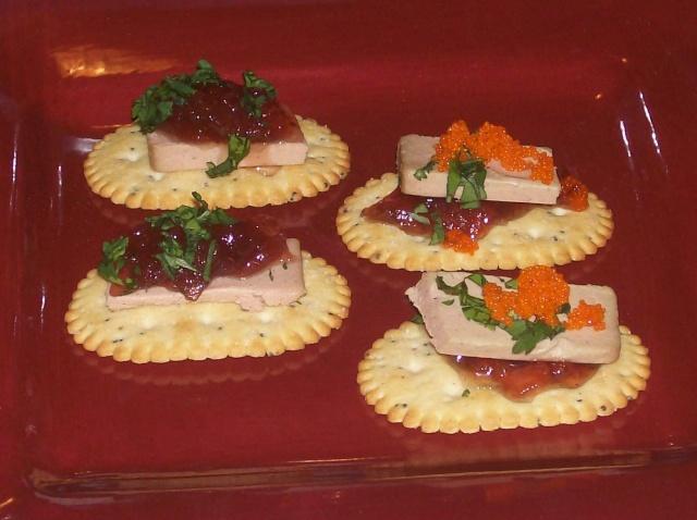Bouchées avec Pâté de foie de canard Photo_22