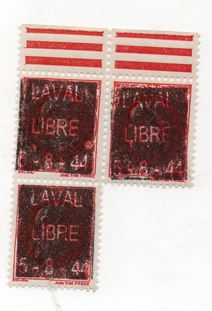TIMBRE DE LAVAL LIBRE DU 5 - 8 - 44 A DEFINIR Img44110