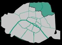 18ème et 19ème arrondissements (Paris non camariste)