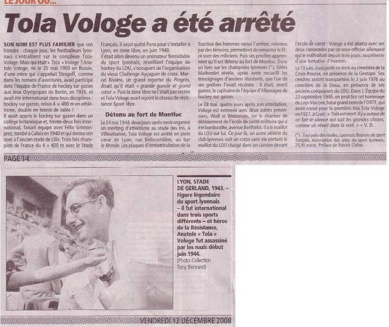 Historique de l'Olympique Lyonnais Tola_v11