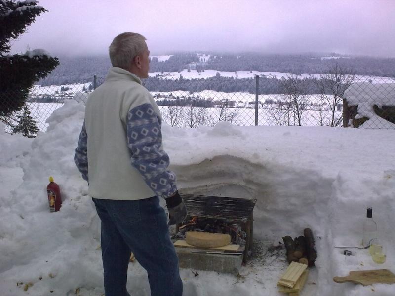 Raclette dans la neige. 07022010