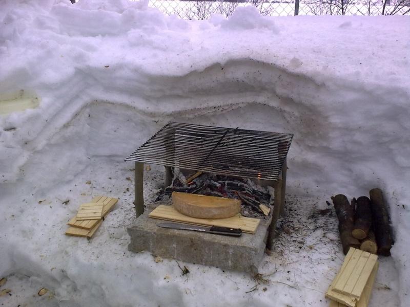 Raclette dans la neige. 07022011