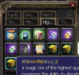 How to add Artemis Metals and Gem Stones High_q10