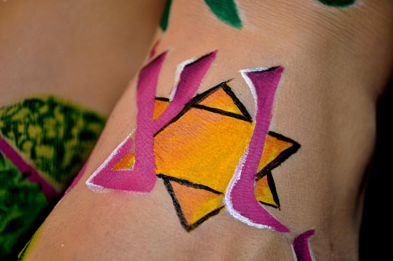 Dossier d'option Bodypainting thème flamenco Dsc_3313