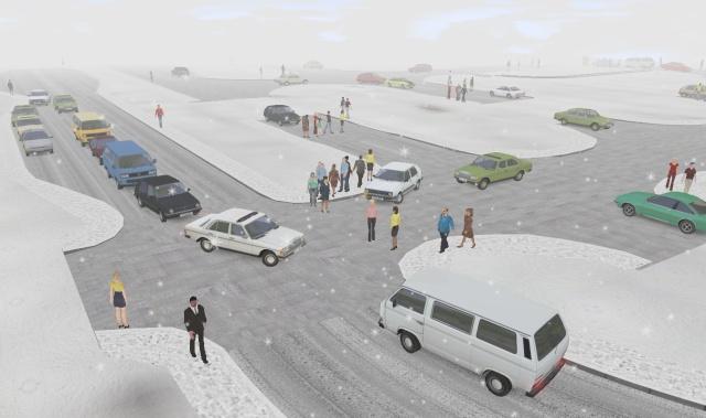 Straßen und Kreuzungen Schnee10