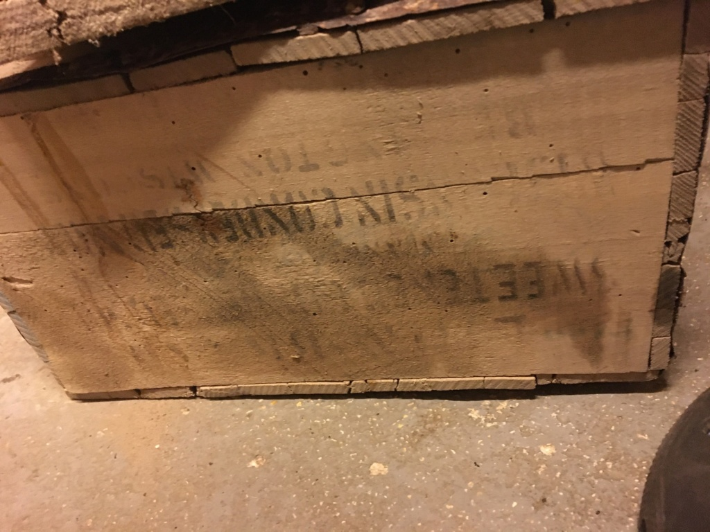caisse ww1 trouvaille de grenier Img_1316