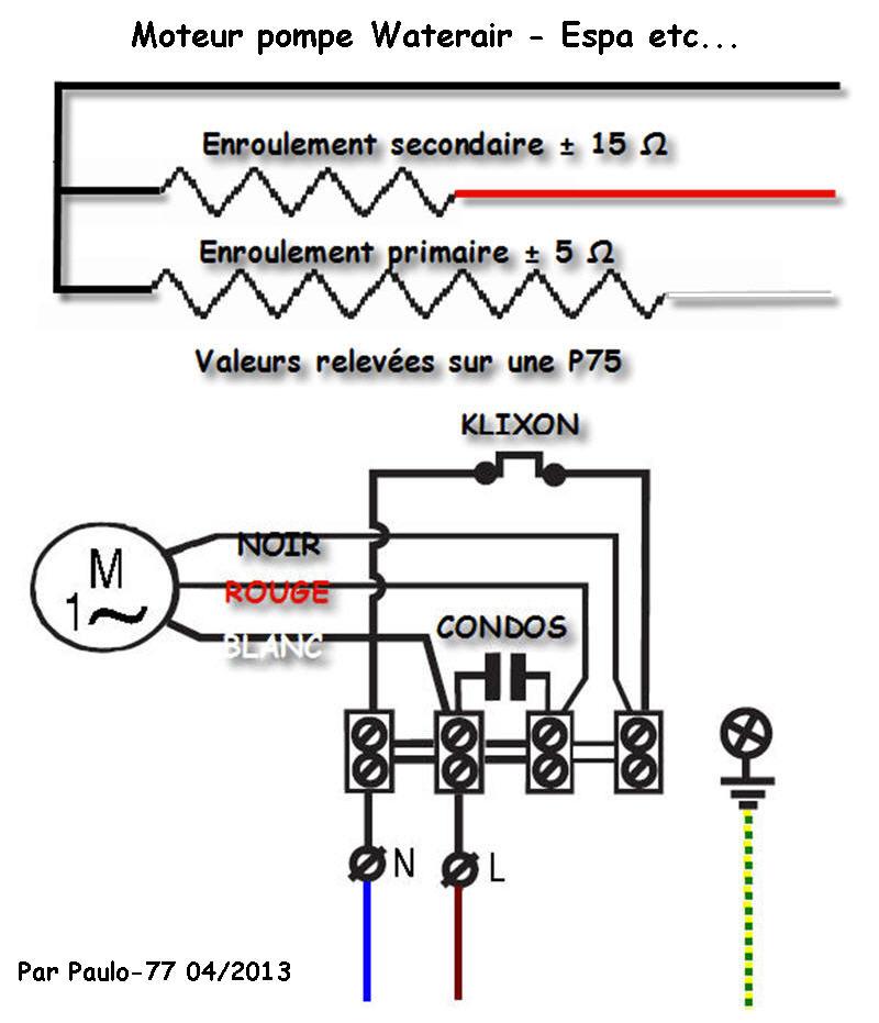 Boîtier pour condensateur HS pompe Moteur10