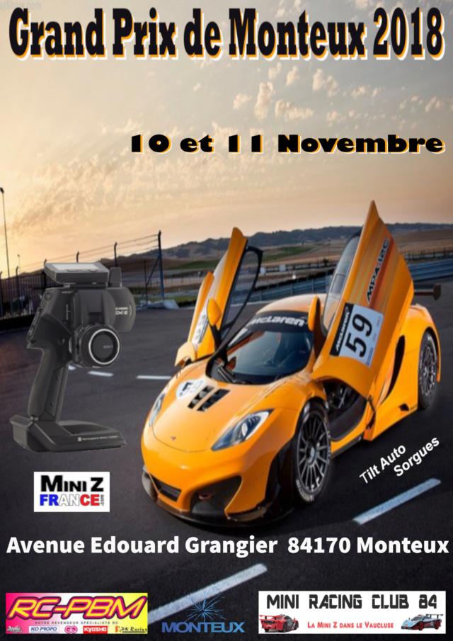 (84) - 10 et 11 Novembre 2018 - MRC 84 - Grand Prix de Monteux 2018 Affich12
