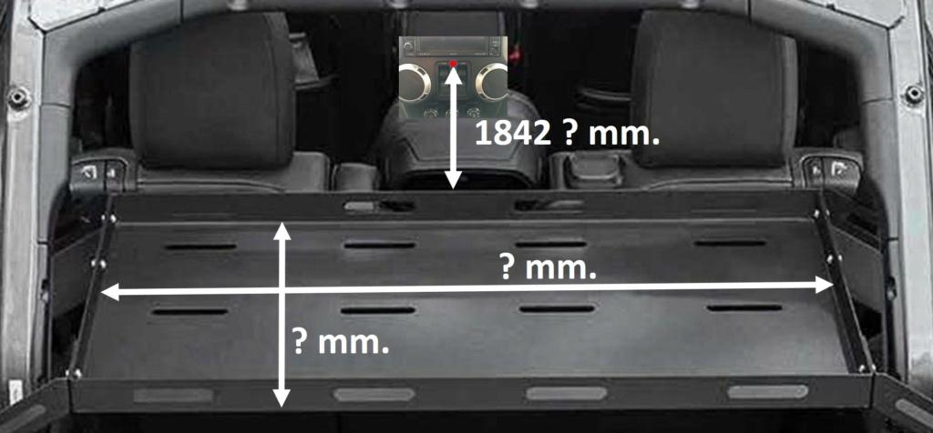 Jeep Wrangler JKU rear cargo rack Misura11