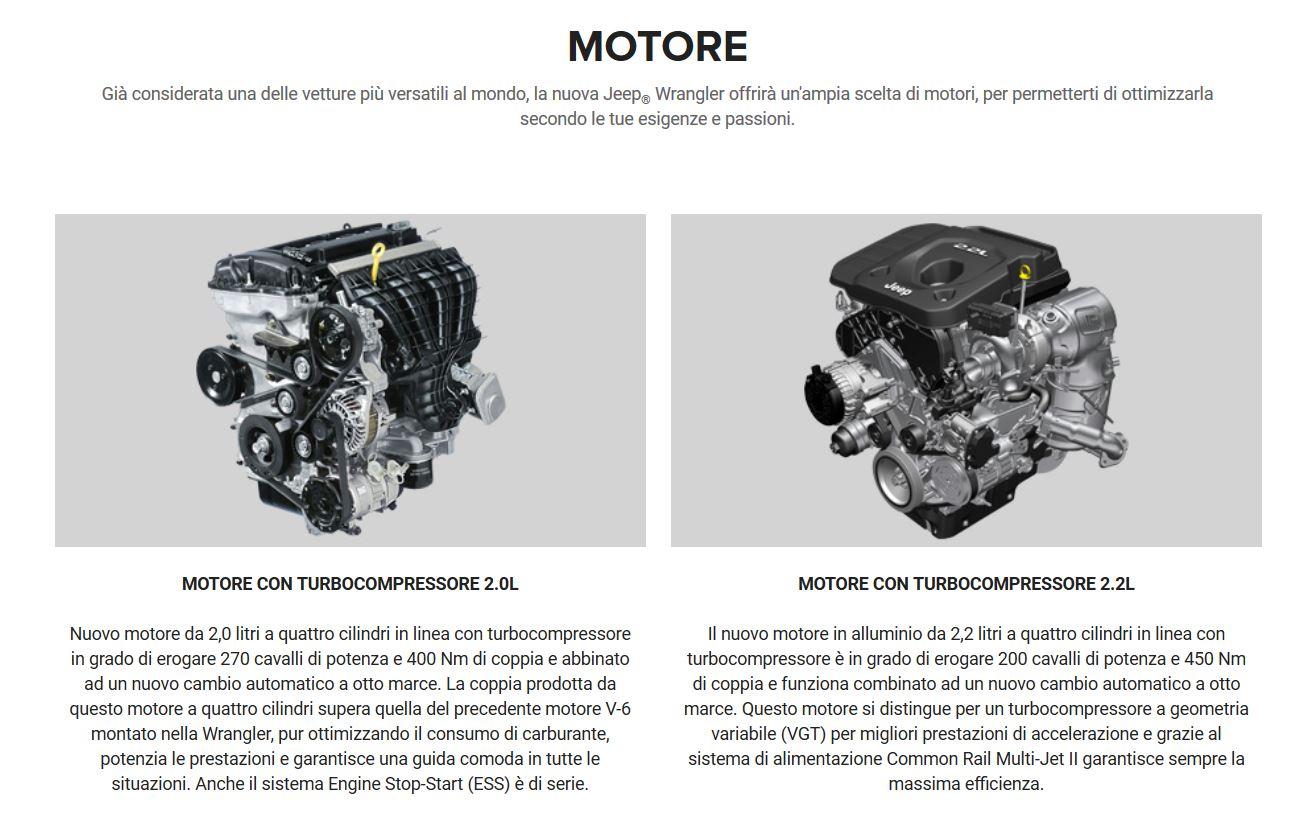 previsioni data di lancio e motori wrangler JL in italia - Pagina 2 Motore10