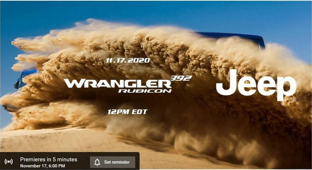 Jeep Wrangler Rubicon 392: oggi pomeriggio la Première ufficiale!  Vvv11