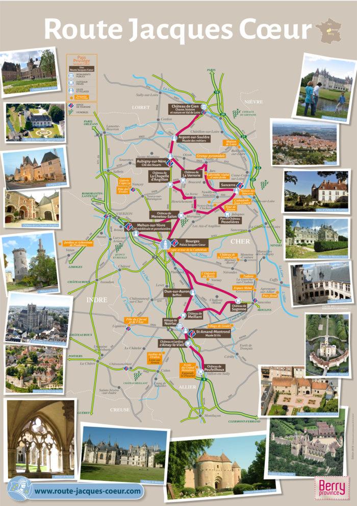Un peu de la route Jacques Coeur, le 20 avril 2019 Carte-10