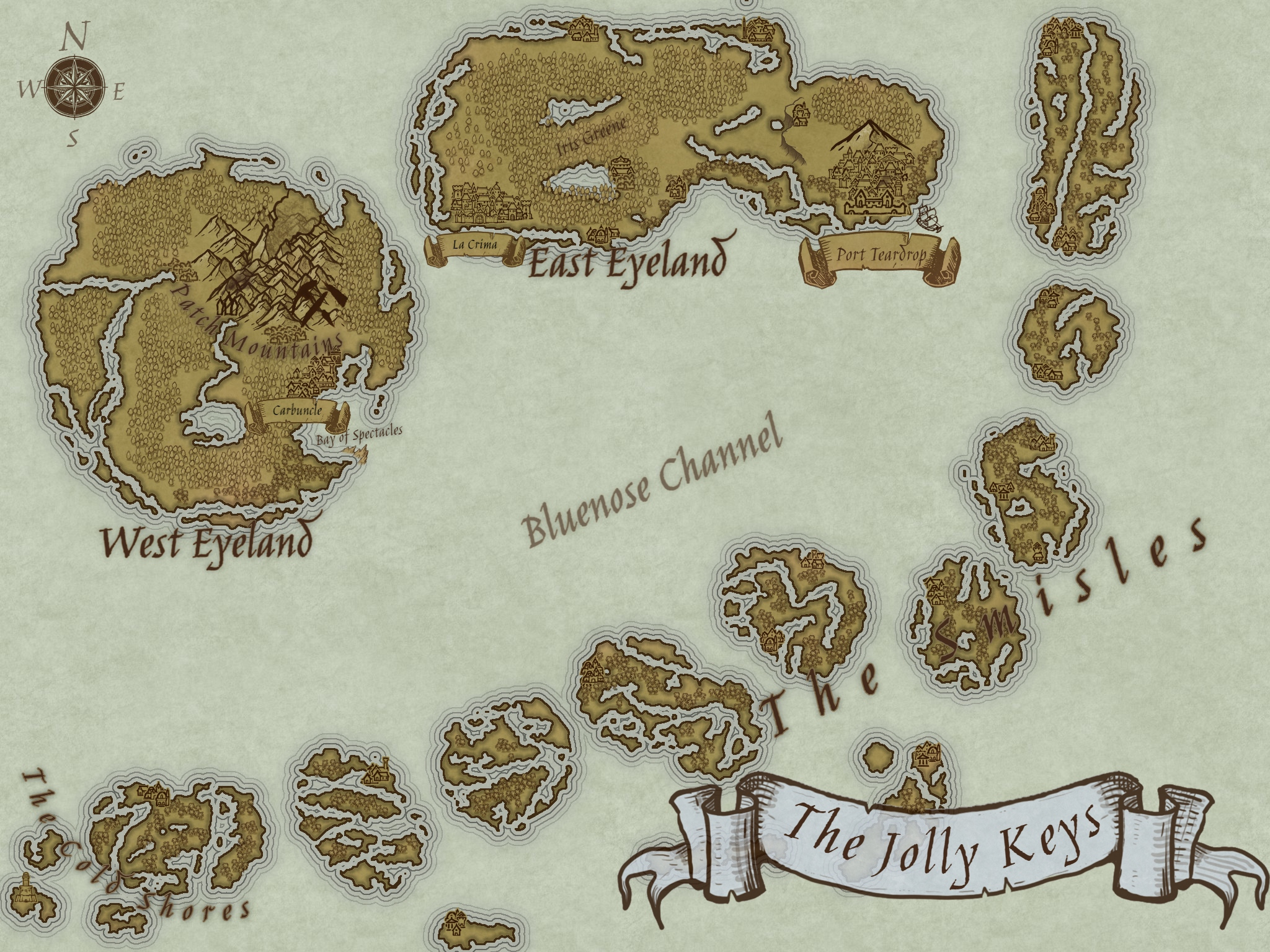 A Map of The Jolly Keys