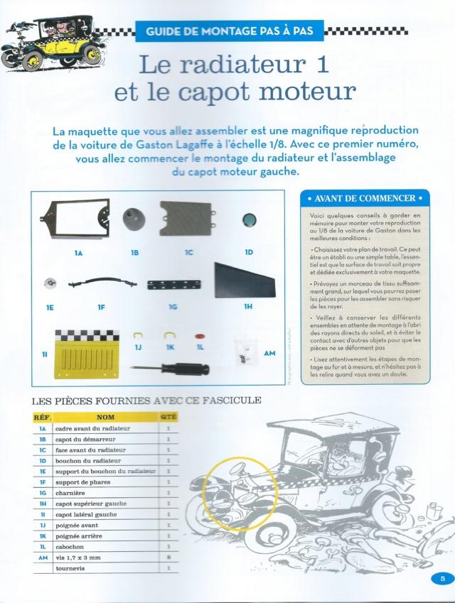 """Construction, par Glénans, de la """"Voiture de Gaston"""" au 1/8, de chez Hachette N01_li10"""