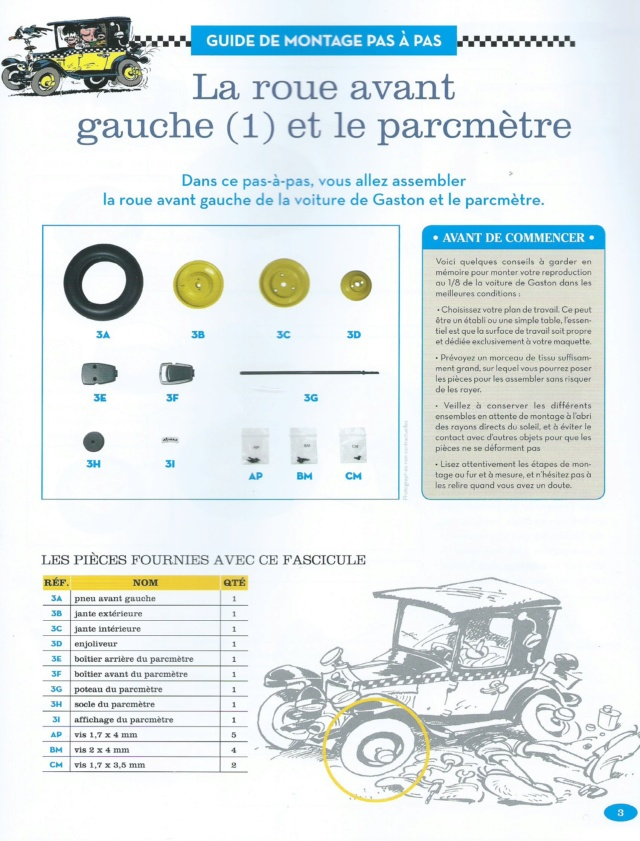 """Construction, par Glénans, de la """"Voiture de Gaston"""" au 1/8, de chez Hachette N03_li10"""