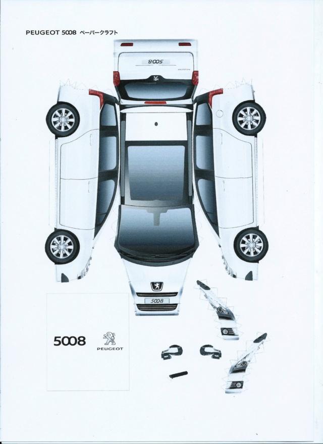 Montage de voitures en papier par Glénans  Peugeo11