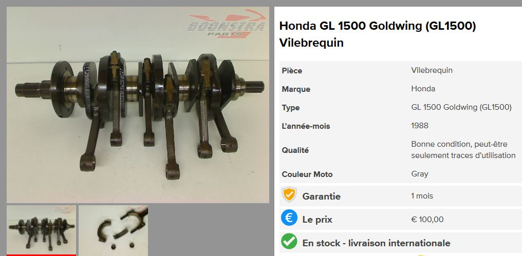 Le six cylindres et la moto Gl150010
