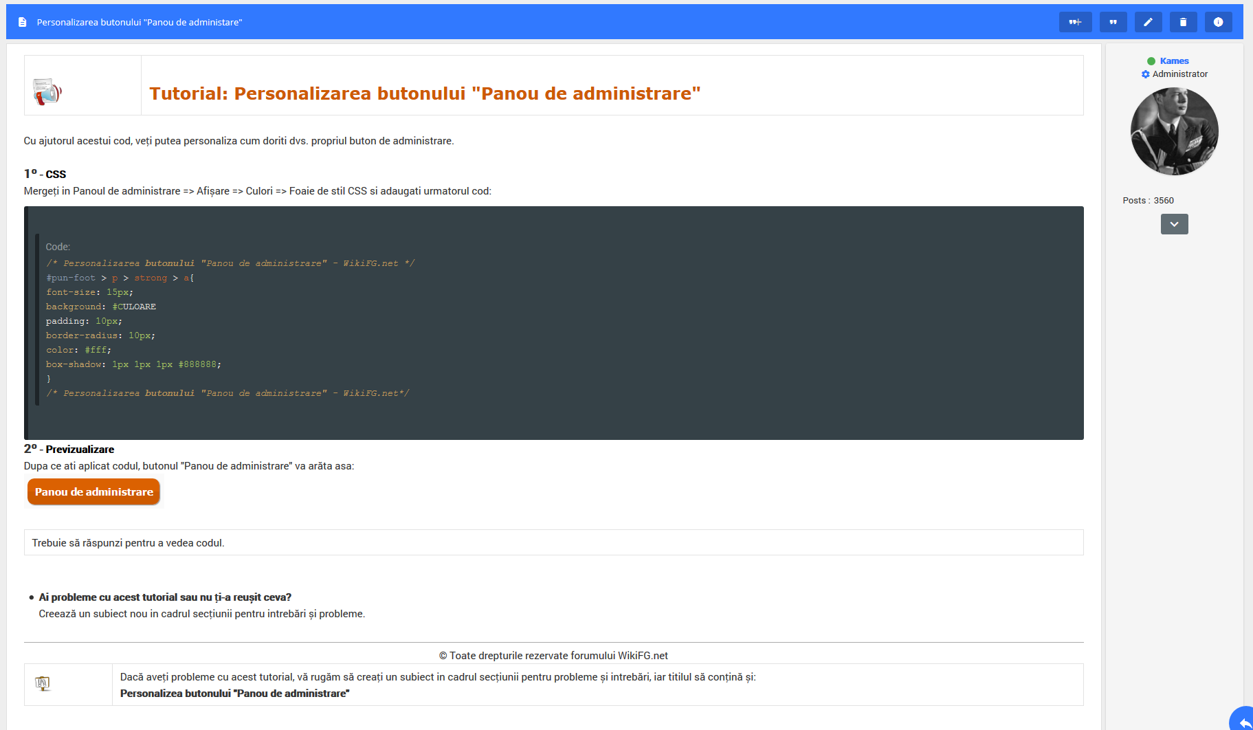"""Personalizarea butonului """"Panou de administare"""" Screen18"""