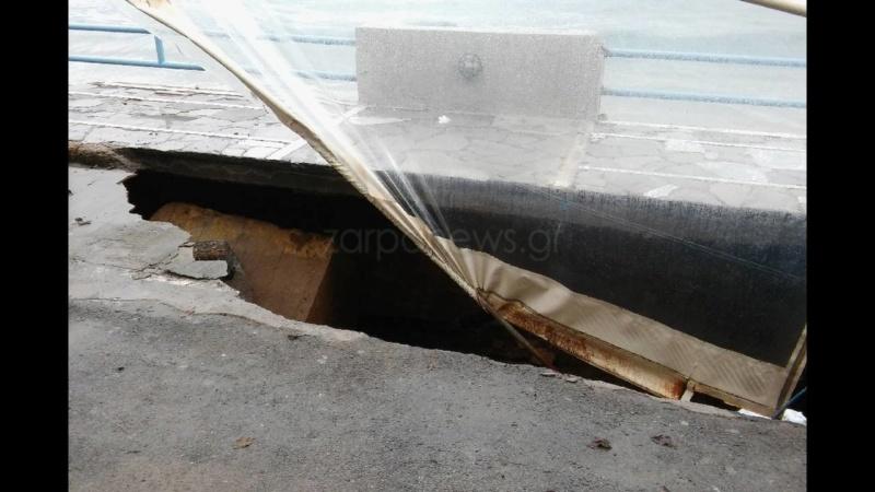 Κρήτη: Βούλιαξε ο δρόμος Koumka13