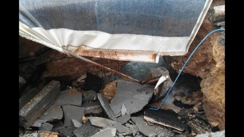 Κρήτη: Βούλιαξε ο δρόμος Koumka16