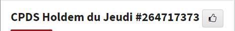 CPDS Holdem du Jeudi - 1er trimestre 2019 L1115