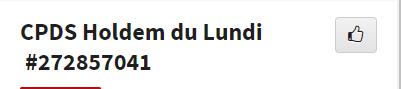 CPDS Holdem du Lundi - 2ème trimestre 2019 L1157