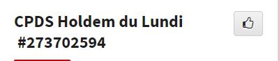 CPDS Holdem du Lundi - 2ème trimestre 2019 L1158