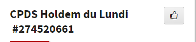 CPDS Holdem du Lundi - 2ème trimestre 2019 L1165