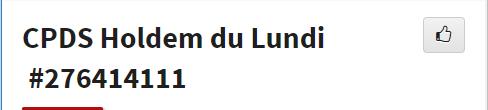 CPDS Holdem du Lundi - 2ème trimestre 2019 L1170