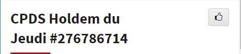 CPDS Holdem du Jeudi - 2ème trimestre 2019 L1175