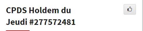CPDS Holdem du Jeudi - 2ème trimestre 2019 L1177