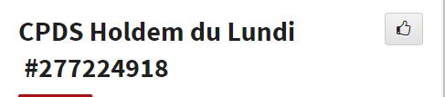 CPDS Holdem du Lundi - 2ème trimestre 2019 L1180