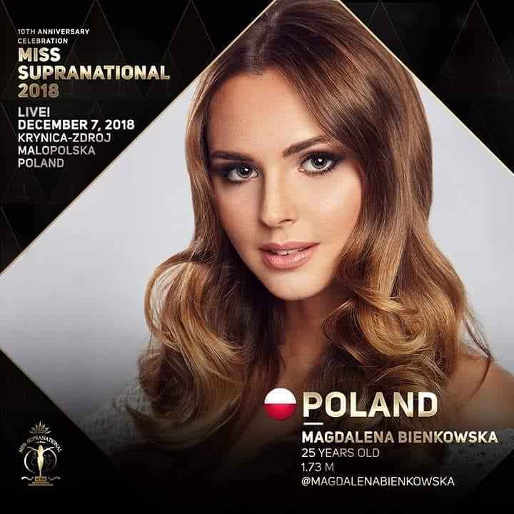 magdalena bienkowska, 2nd runner-up de miss supranational 2018/top 40 de miss world 2017/top 15 de miss international 2016. - Página 22 42515610