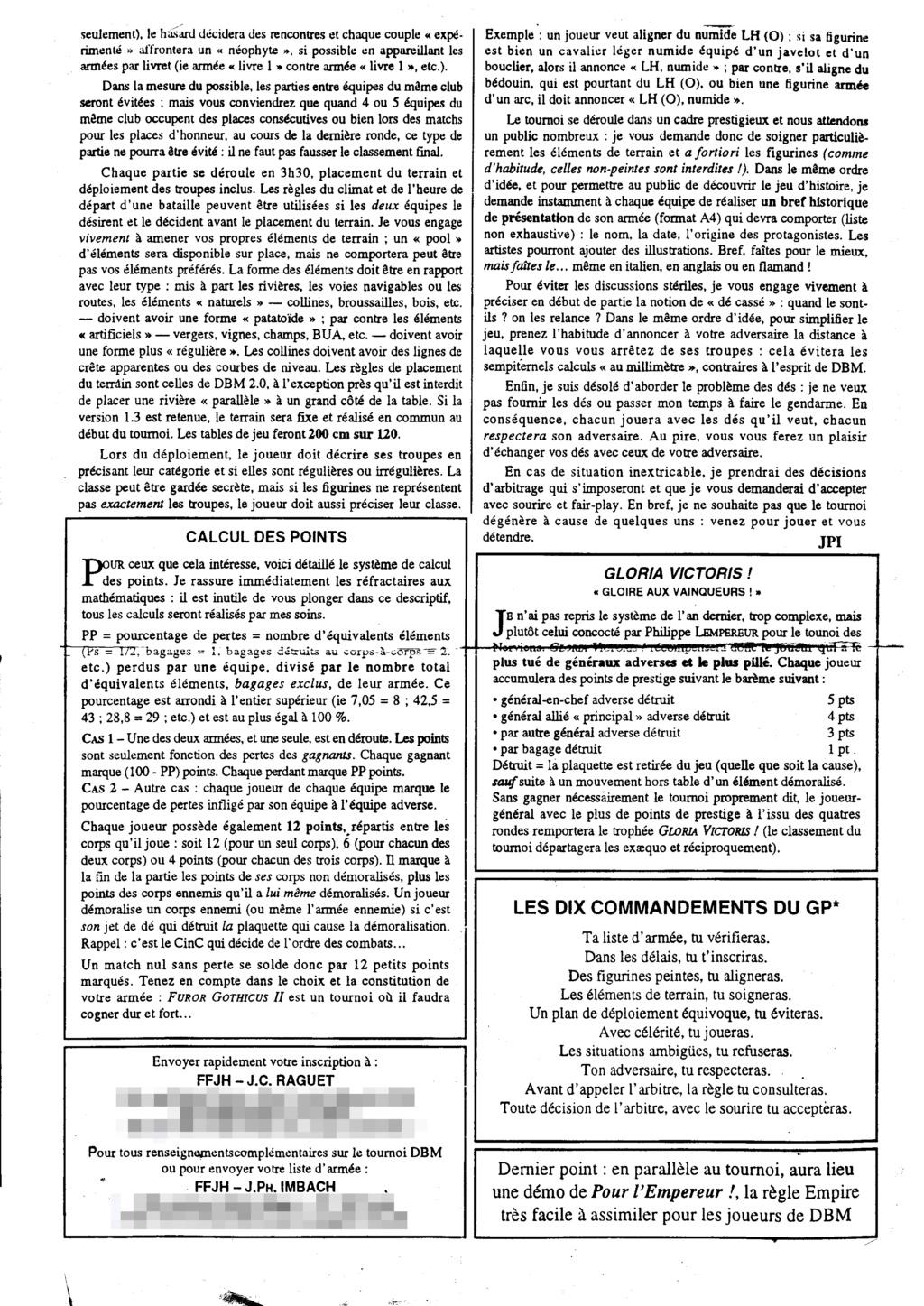 Souvenir DBM de 1998 ........  FUROR GOTHICUS II 1998-011