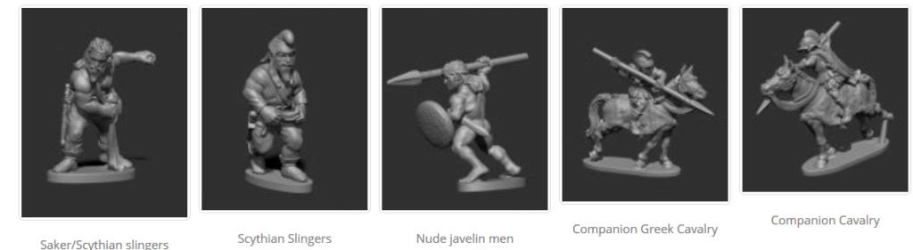 Museum Miniatures New Greek Companions & Scythian slingers Screen30