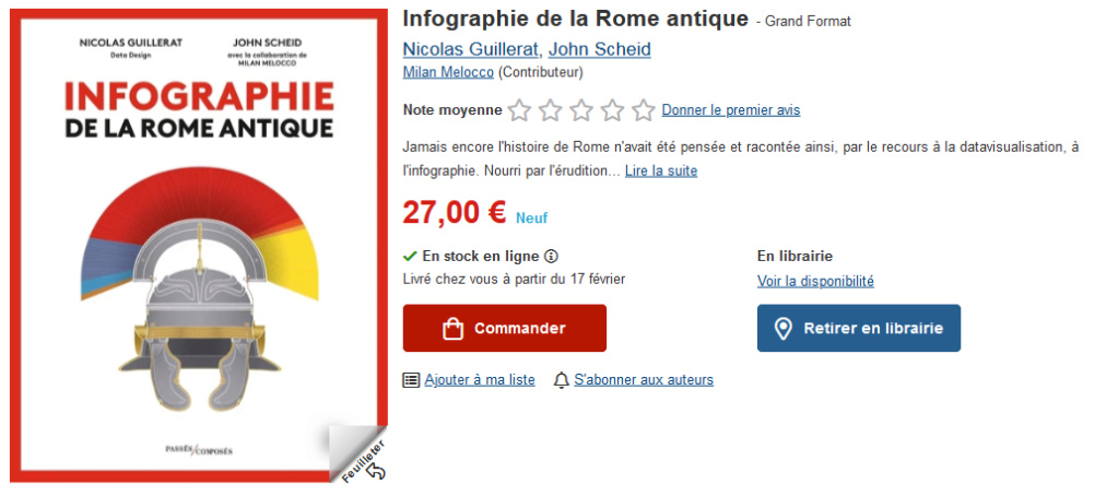 Infographie de la Rome antique - Nicolas Guillerat, John Scheid  Screen54