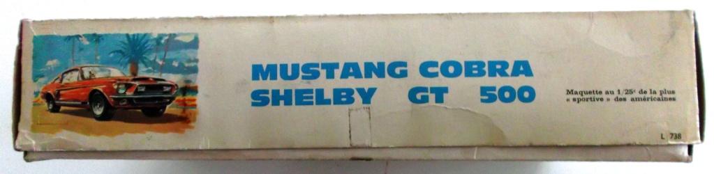 MUSTANG COBRASHELBY GT 500 ech 1/24ème ref L 738 00212