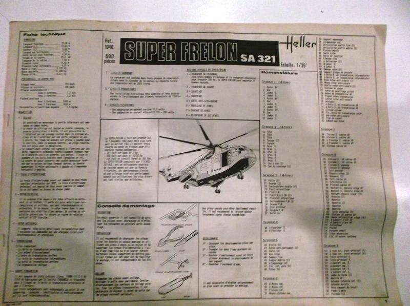 SUD AVIATION SA 321 SUPER FRELON 1/35ème Réf 1040 Notice 00410
