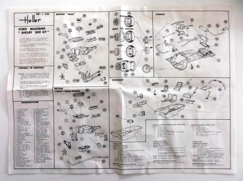 MUSTANG COBRASHELBY GT 500 ech 1/24ème ref L 738 00412
