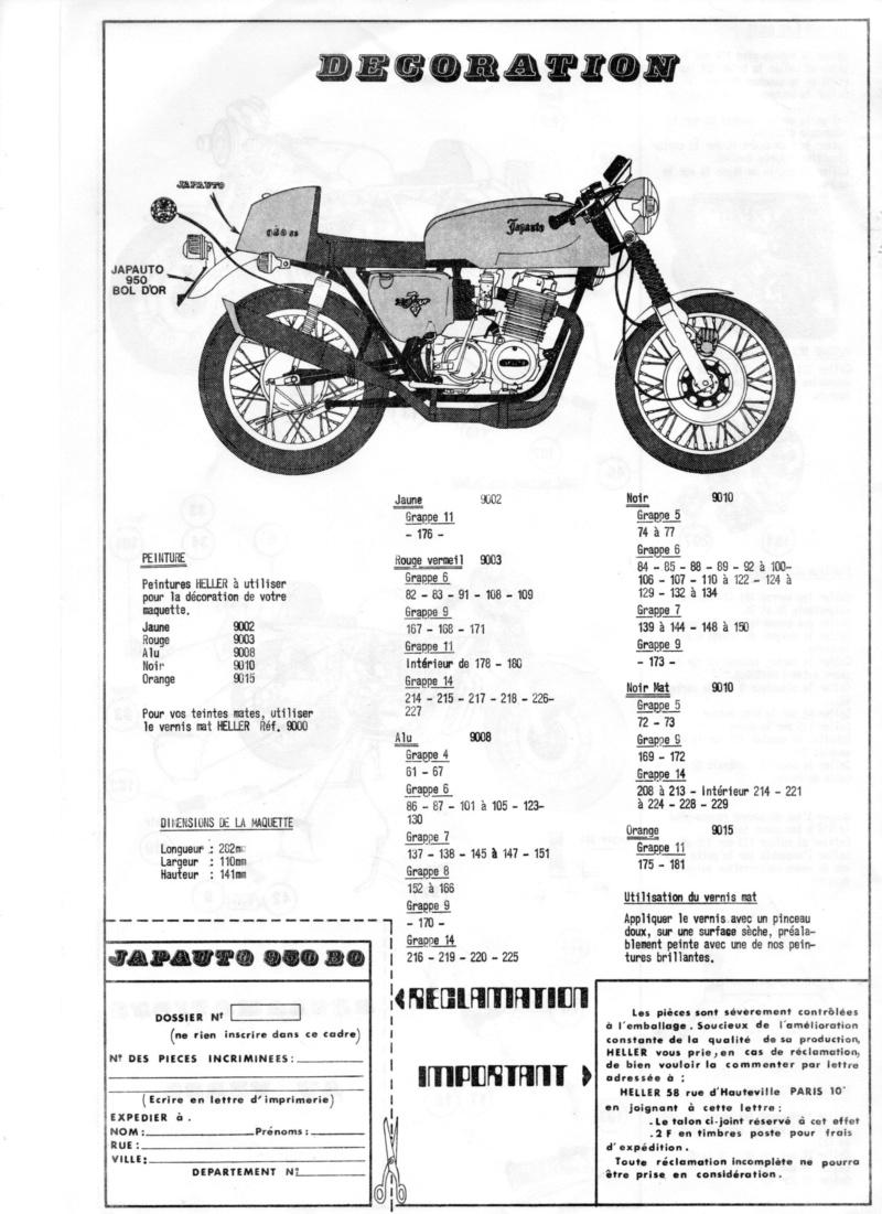 HONDA 950 SS JAPAUTO BOL D'OR 1/8ème  Réf 984 Notice 01612