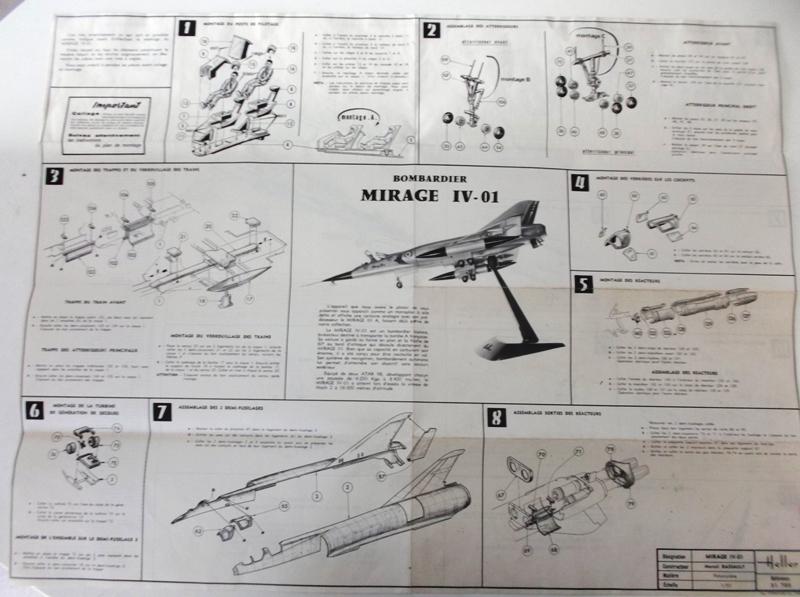 DASSAULT MIRAGE IV-01 1/50ème Réf L 830 Notice Dscf2417
