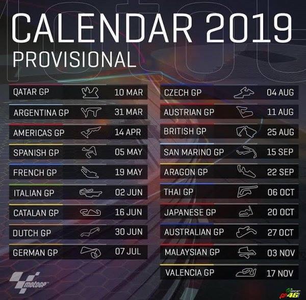 Calendrier des courses 2019 46777010