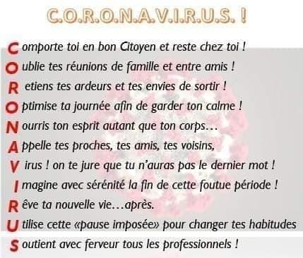 LE CORONAVIRUS, VOICI LA CAUSE DE SON APPARITION, + Recommandations. 91957011
