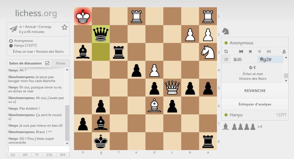 CAT'S EYE VS MEMBRES #1 Chess10