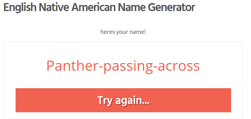 Quiz : What is your native american name ? Fhddfh10